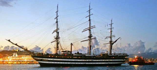 The Amerigo Vespucci was built